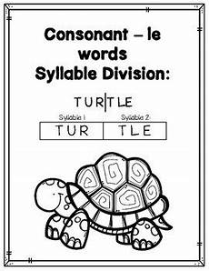syllable patterns consonant le worksheets and decodable story by smartyplans