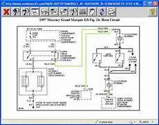 97 mercury wiring diagrams 1997 mercury marquis horn does not work all of a sudden the horn
