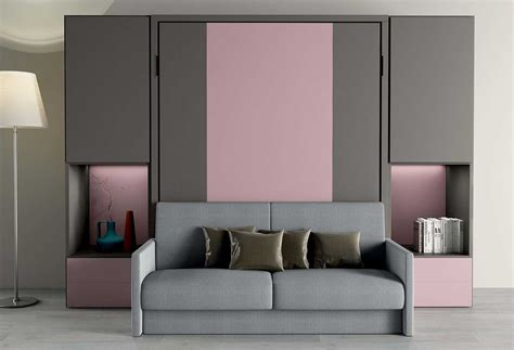 Letto Divano Scomparsa : Nobu Double Murphy Bed With Sofa
