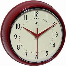 retro wall clock by infinity instruments metal wall