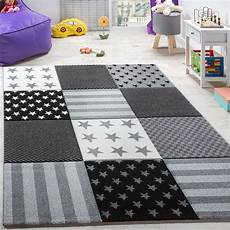 Sternen Teppich Kinderzimmer - kinderzimmer teppich sterne karo grau teppich de