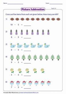 subtraction visual worksheets 10304 picture subtraction facts worksheets