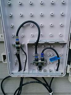Wiring How Do I Properly Feed Coax Through An Outside