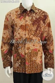 baju batik elegan lengan panjang mewah dan halus pakaian batik tulis full furing buatan