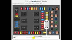 2007 Ford F150 Fuse Box Layout by 2007 Ford F150 Fuse Box Diagram