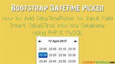 bootstrap datetimepicker add date time picker to input field codexworld