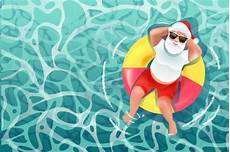santa claus on the summer premium vector