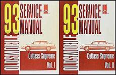 free online auto service manuals 1993 oldsmobile cutlass cruiser auto manual 1993 oldsmobile cutlass supreme repair shop manual original set