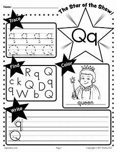 q sheet letter q worksheet tracing coloring writing more