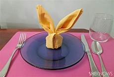 How To Fold Easter Bunny Napkins For The Table Topper