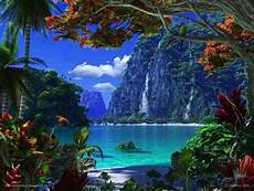 waterfalls and beach lagoon paradise tropical paradise pinterest