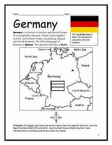 german worksheets for beginners printable 19573 germany printable handout with map and flag germany map germany germany facts