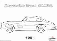 1954 mercedes 300sl coloriage voiture les voitures