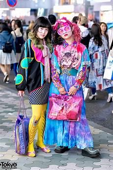 colorful vintage tokyo street fashion w dog harajuku cat