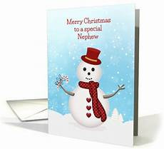 merry christmas snowman for nephew card 1406786