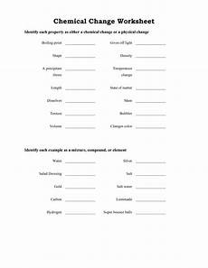 14 best images of physical changes matter worksheets