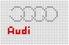 Pixel Logo Voiture Audi Logo Pixel Brik Pixel Designs Pixel