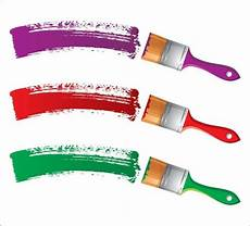 different colors of paint brush 04 vector free vector in