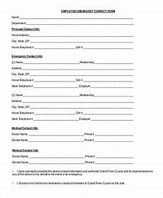 8 sle emergency contact forms pdf doc
