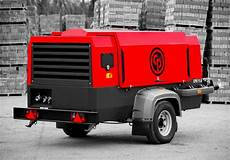 chicago pneumatic lance deux compresseurs de chantier