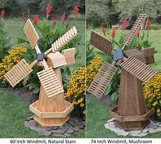 Wood Decorations Outdoor by Amish Made Wooden Windmill Yard Decoration