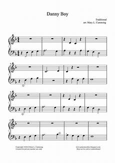 easy piano sheet music arrangement of danny for beginners great melody anytime of year but