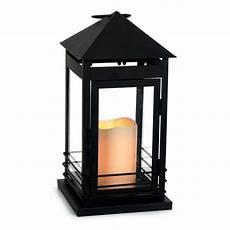 black metal battery candle lantern 15 x 15 x 30cm