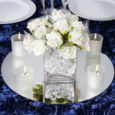 4 14 quot glass mirror wedding party table