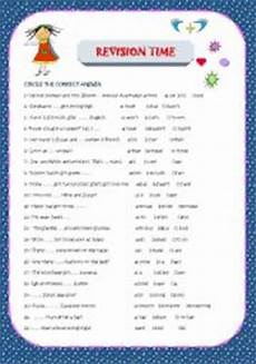 time revision worksheets 3176 time for revision esl worksheet by mariaah