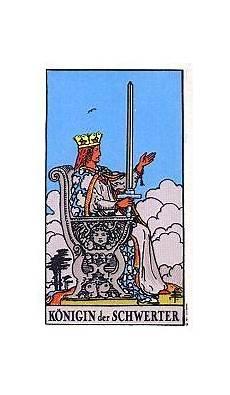 Königin Der Schwerter - k 246 nigin der schwerter tarot karte deutung kartenlegen