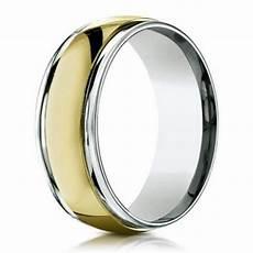 men s designer two tone 18k gold wedding band