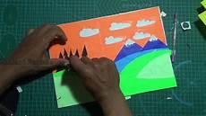 40 Ide Gambar Kolase Pemandangan Dari Kertas Origami