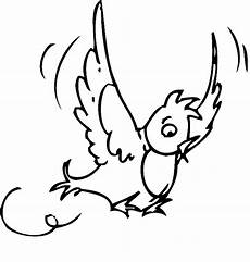 kostenlose malvorlage v 246 gel fliegender vogel in der luft