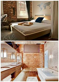 exposed brick two office interior design archives moody monday