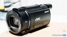 Sony Ax53 4k Camcorder Balanced Optical Steadyshot Image