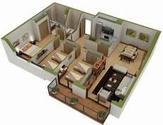 3 Bedroom Apartment House 3d Layout Floor Plans 25 three bedroom house apartment floor plans