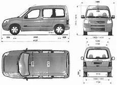 2002 Citroen Berlingo Minivan Blueprints Free Outlines
