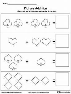 math addition counting worksheet addition with pictures shapes math addition