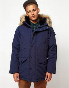 carhartt coat anchorage parka in blue for lyst