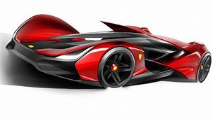 Futuristic Concept Sports Car  Modern Technology And