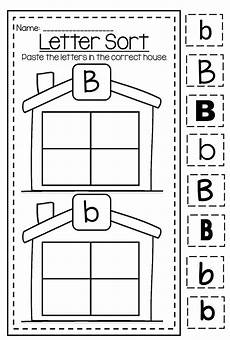 preschool worksheets letter b 24456 letter b capital and lower differentiation alphabet printable worksheet bundle with