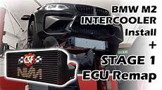 bmw m2 csf intercooler install nvm stage 1 ecu remap the dyno nvm2 update youtube