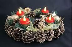 adventskranz weihnachtskranz mit led kerzen tischdeko