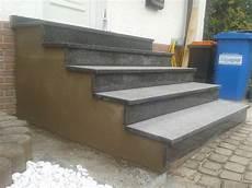Treppe Zur Haust 252 R Neu Betonieren Und Mit Naturstein