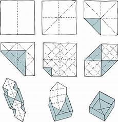 origami schachtel schachtel falten anleitung schachtel