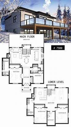 house plans with walkout finished basement modern cottage house plan with finished walkout basement