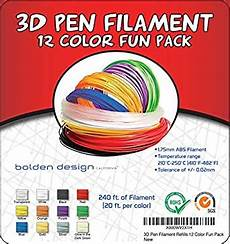 Amazon Com 3d Pen Filament 3doodler Plastic Refills 1 75mm Abs 3d Pen Filament Also