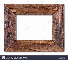 wooden frame isolated on a white background stock