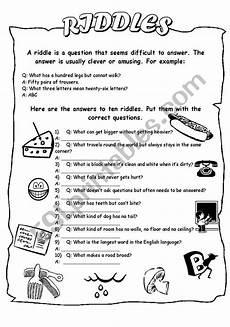 esl riddles worksheets 10892 riddles esl worksheet by helen vin