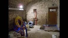 Travaux De Drainage Et D Assainissement Dans Une Cave